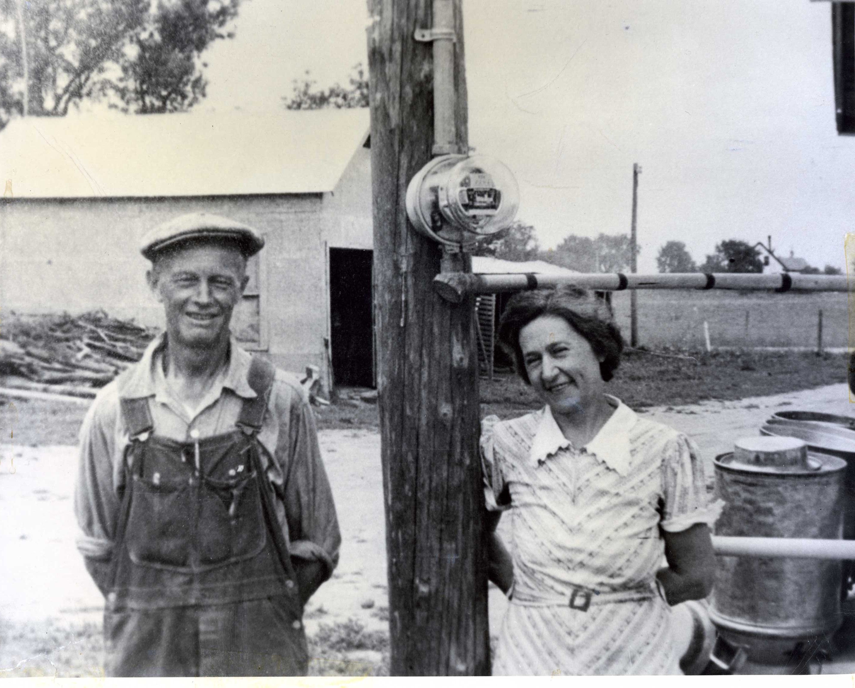 On July 27, 1938, Ole and Minnie Stoen of Georgetown are  first members energized.