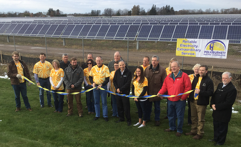 SunTuria Solar ribbon cutting, November 2017