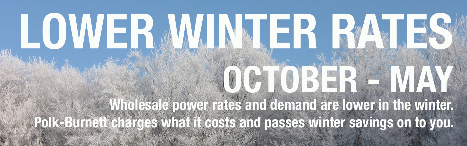 Co-op electric rates are lower in the winter
