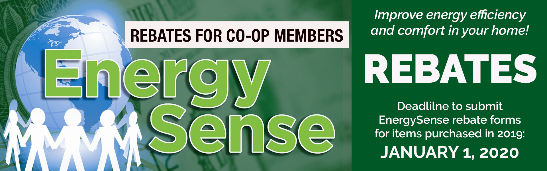 Get co-op rebates to improve energy efficiency in your home