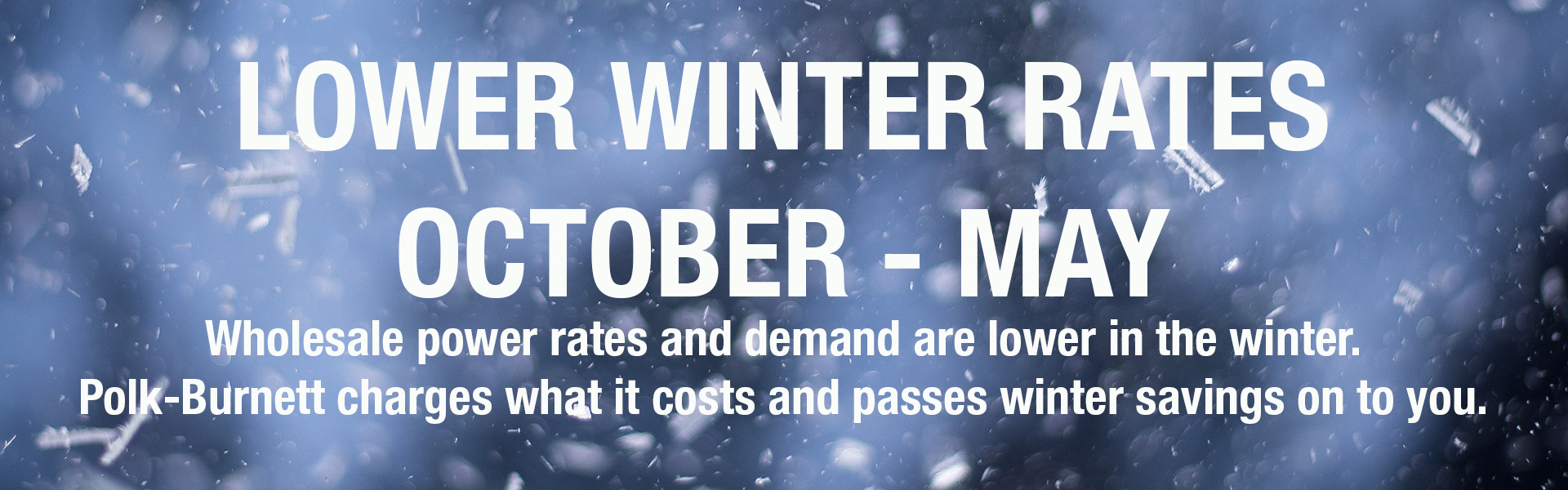 Lower winter rates for co-op members!